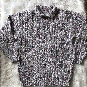 [DD Sloane] Vintage Knit Sweater Size Medium Gray